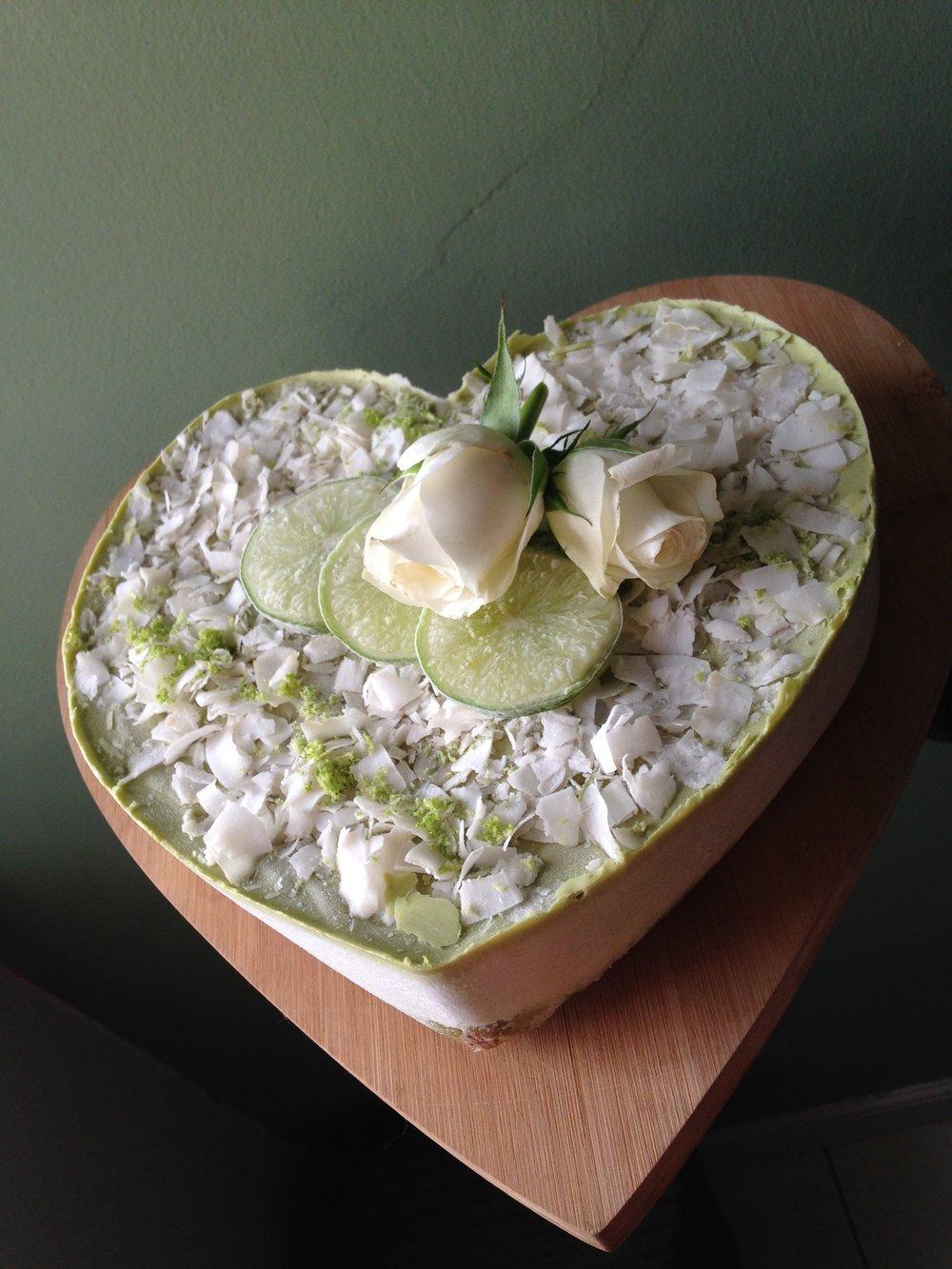 Lime & coconut tart