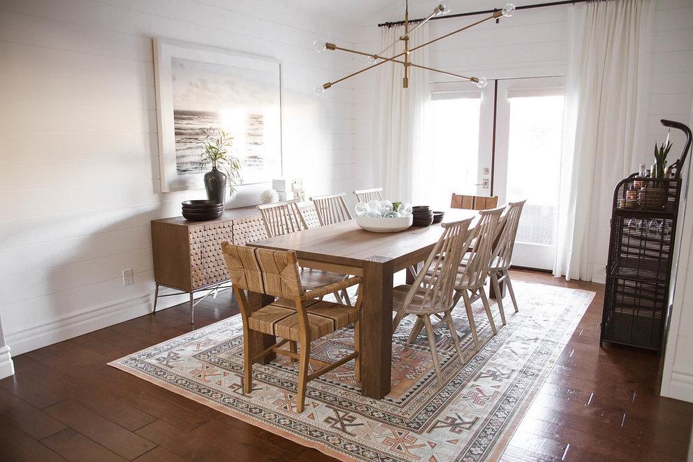 Rustic Mid Century Dining Room