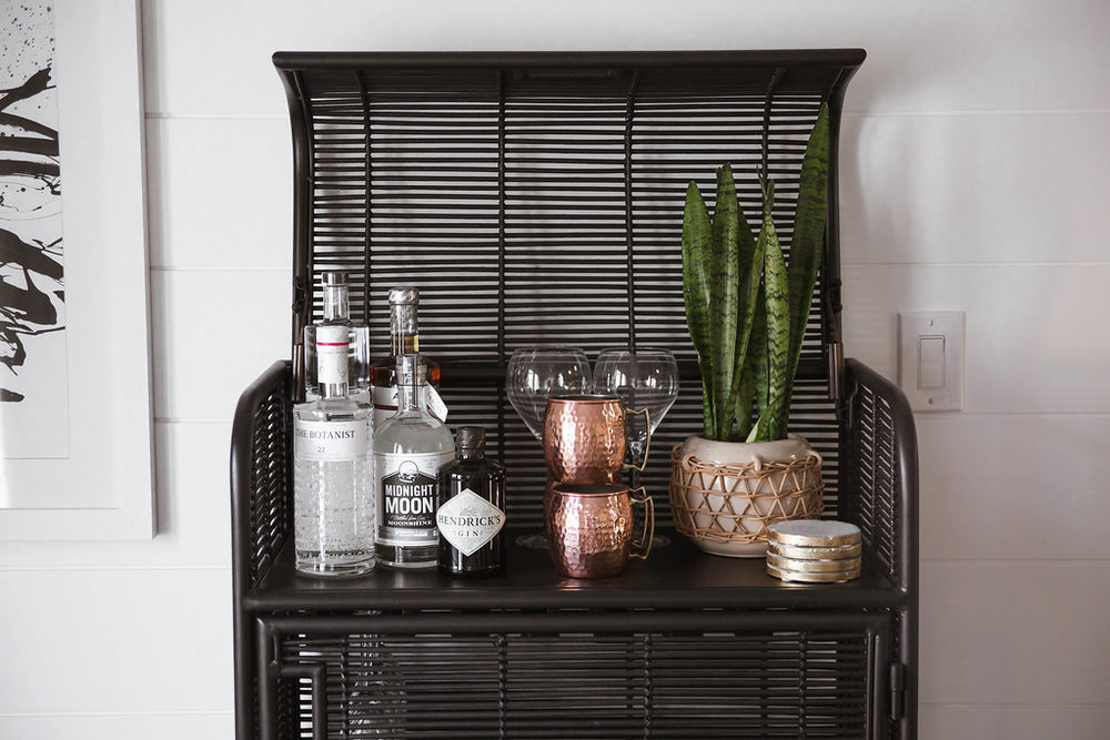 Rustic Mid Century Bar Styling