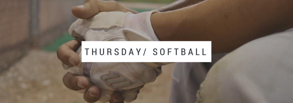 Thursday Softball