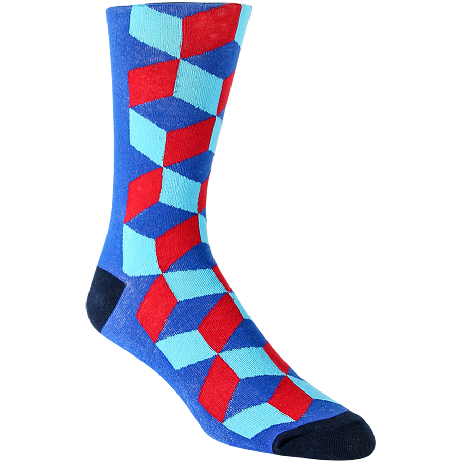 Half Cubed Mens Socks