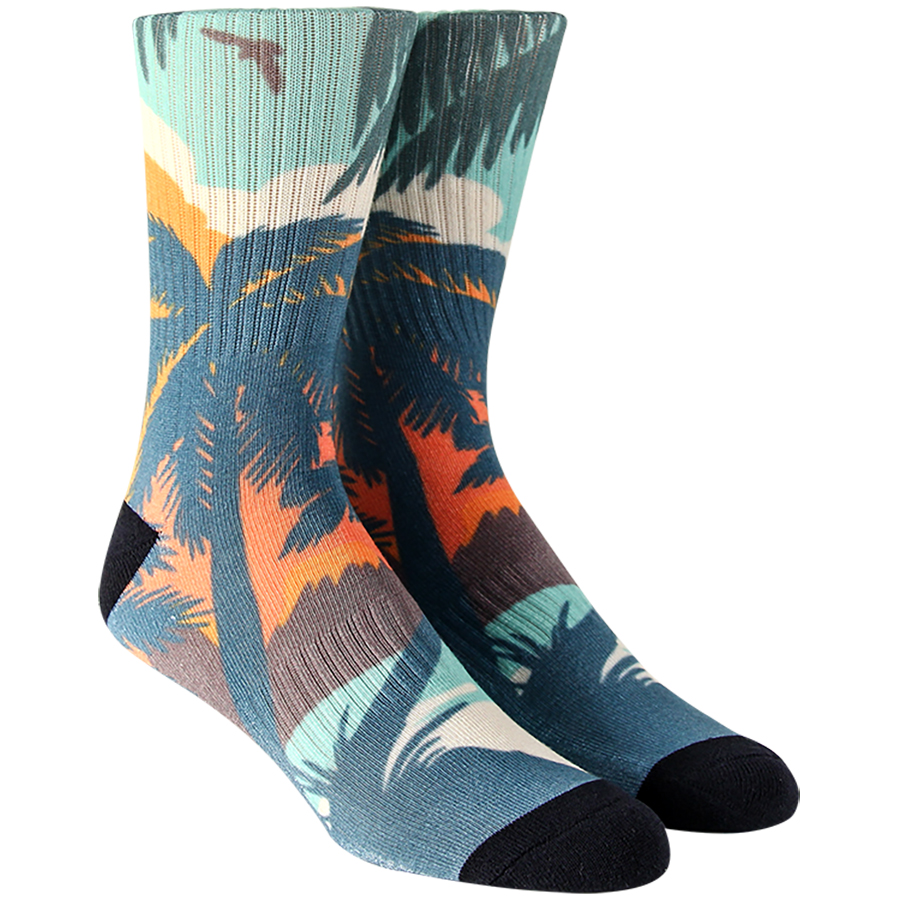 Tropical Landscape Mens Socks
