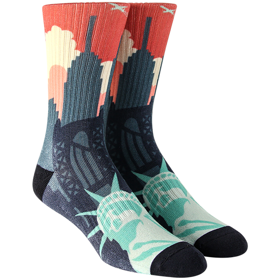 NYC Landscape Mens Socks