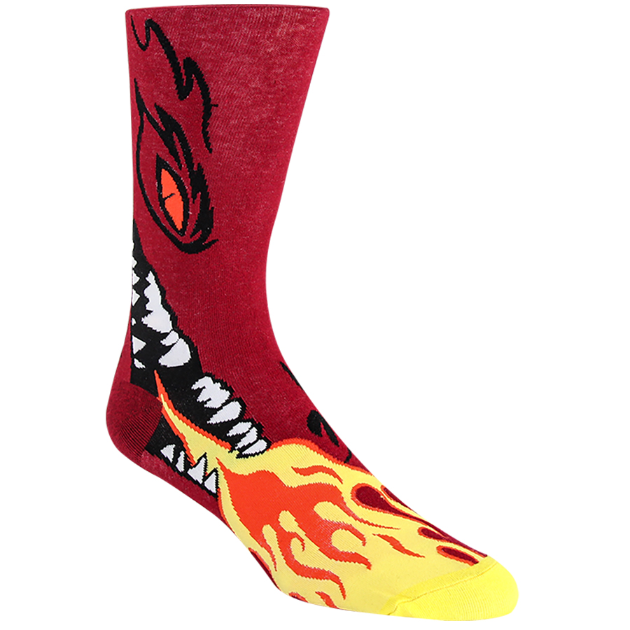Flaming Dragon Mens Socks