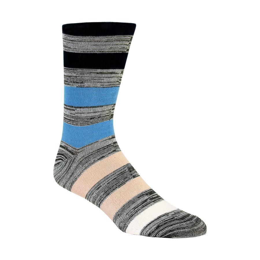 Marled Ombre Stripes Mens Socks