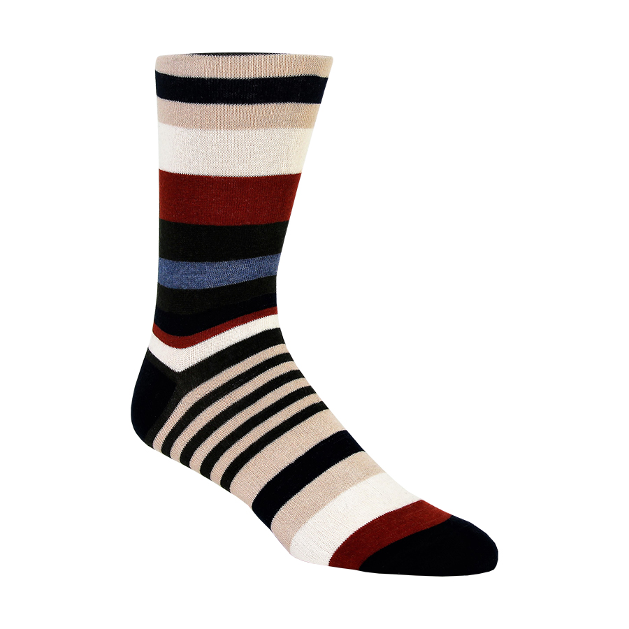 Mixed Stripes Mens Socks