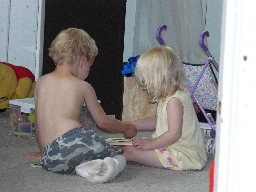 Doing puzzles... circa 2007