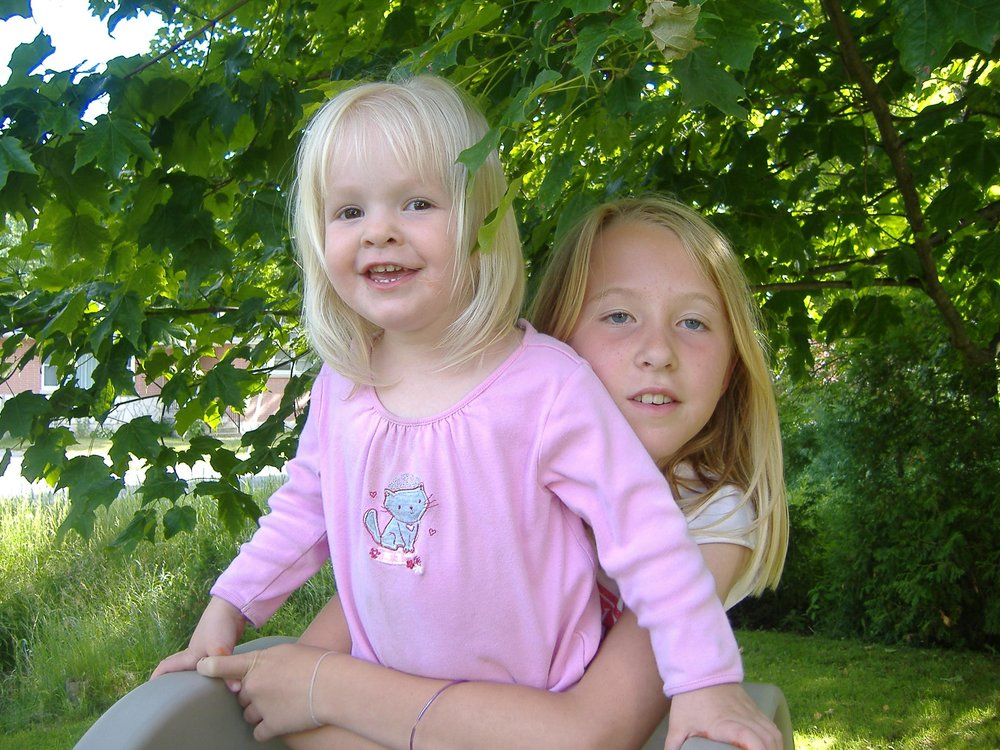 those cheeks though! .... Laci and Katie, 2007
