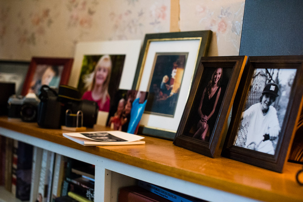 The constantly changing photo display in our living room... one photo would never be enough!
