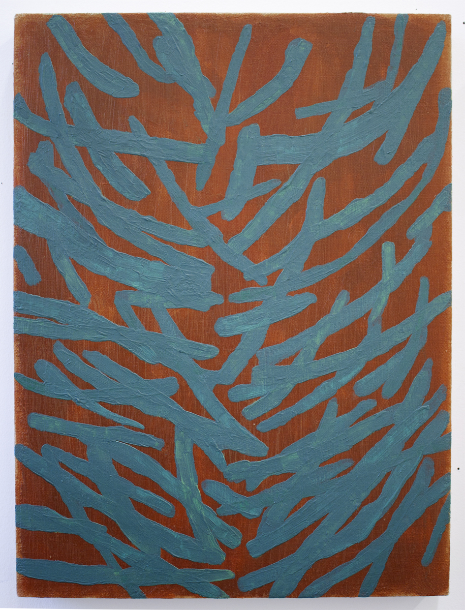 "Shrub    Acrylic on linen   15"" x 20""   2017"