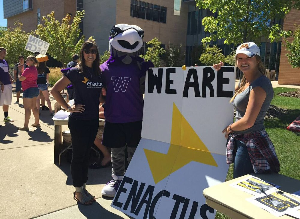 Willy Warhawk just loves Enactus.