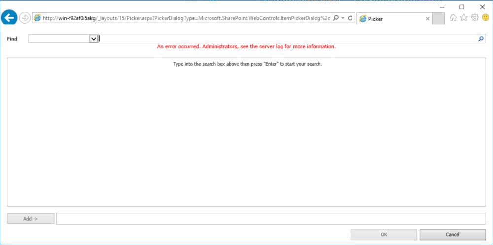 Figure 6:  Picker.aspx  with  Microsoft.SharePoint.WebControls.ItemPickerDialog