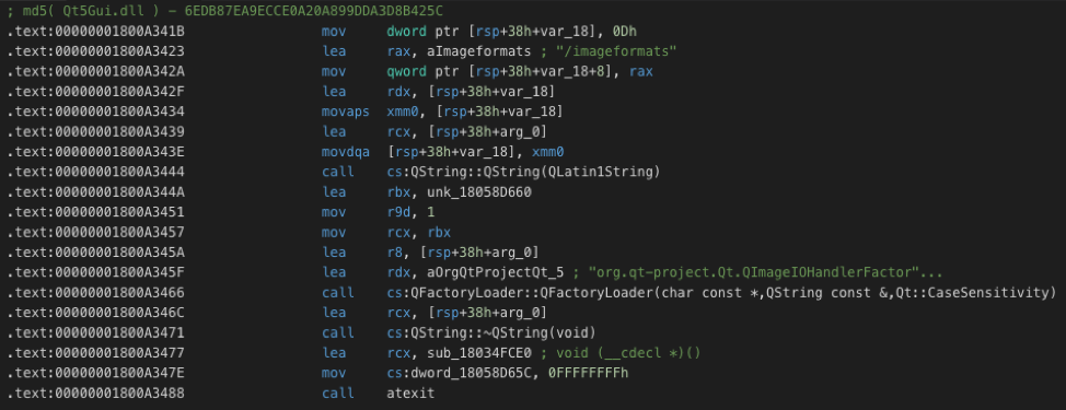 Figure 3 - Code that reads from /imageformats dir and starts parsing images