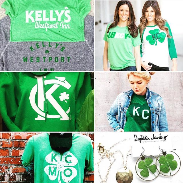 St. Patrick's day is next Friday! Have you picked up some local greenery?  #kc #kansascity #stpatricksday #supportlocal #supportsmallbusiness #shoplocal #shoplocalkc #kellyswestportinn #normalhuman #brownesirishmarket #flyingpig #loveletterskc #charliehustle #duplikajewelry #fourleafclover #green #parade