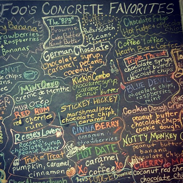 Sunday Funday with Foos.  #foosyourdaddykc #kc #kansascity #icecream #concrete #candybarcrunch #sundayfunday