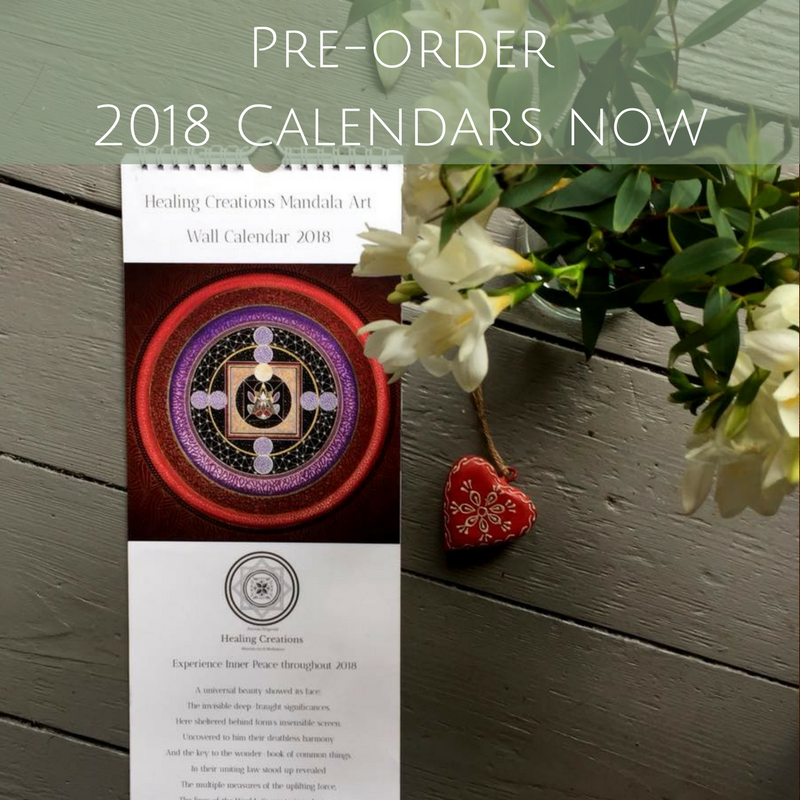 2018 Healing Creations Mandala Art Calendar
