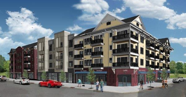 Riverwalk Building 7 - 4 Story Retail and Apartments - 57 Units - 88,000 Square Feet - Completion 2018