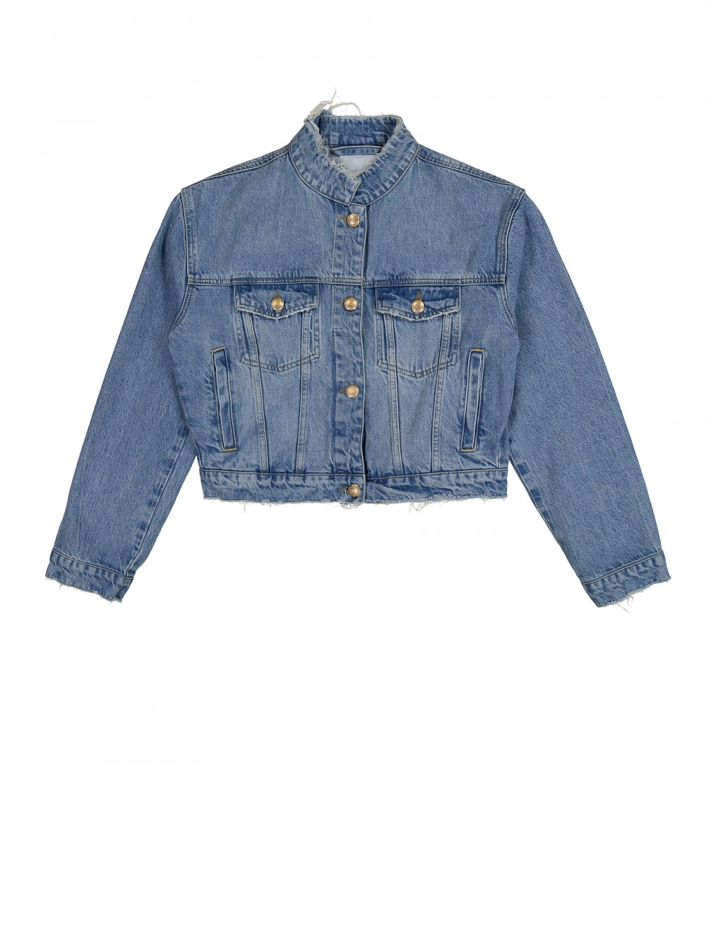 WON HUNDRED Cropped Denim Jacket -  $350