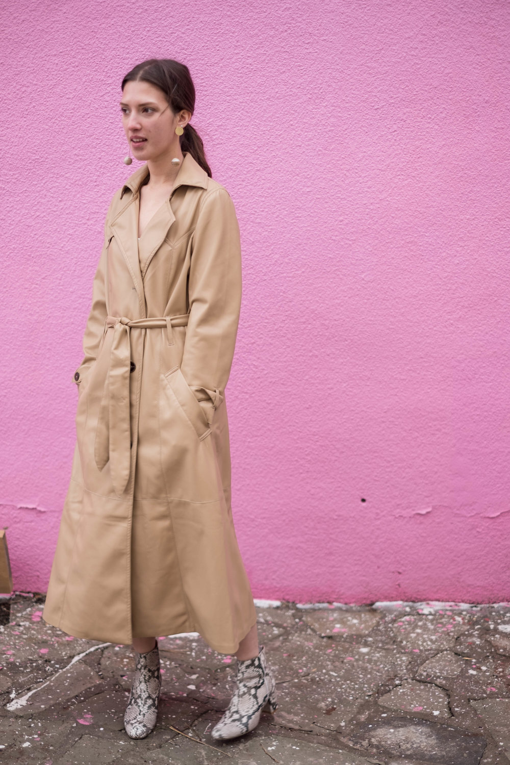 Nanushka Vegan Leather Trench