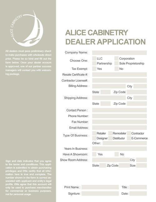 Dealer Application Form -