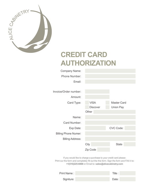 CC Authorization Form -