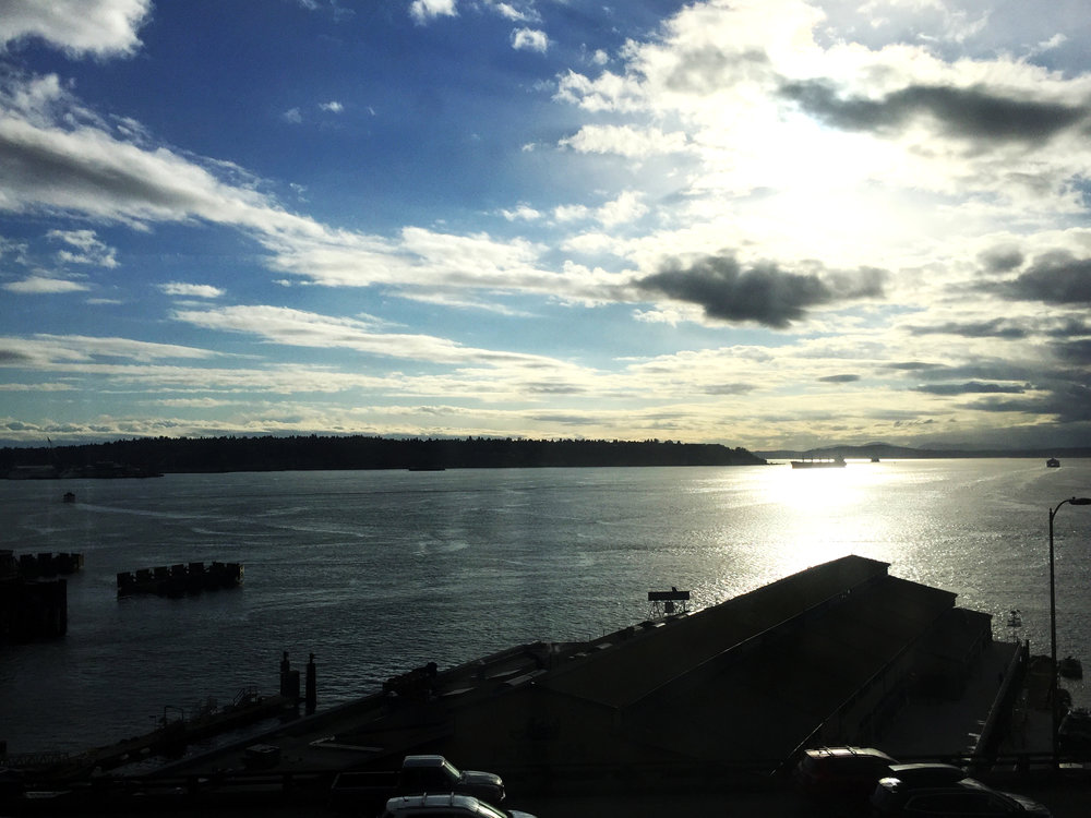 Spectacular view from Blink UX offices in Downtown Seattle