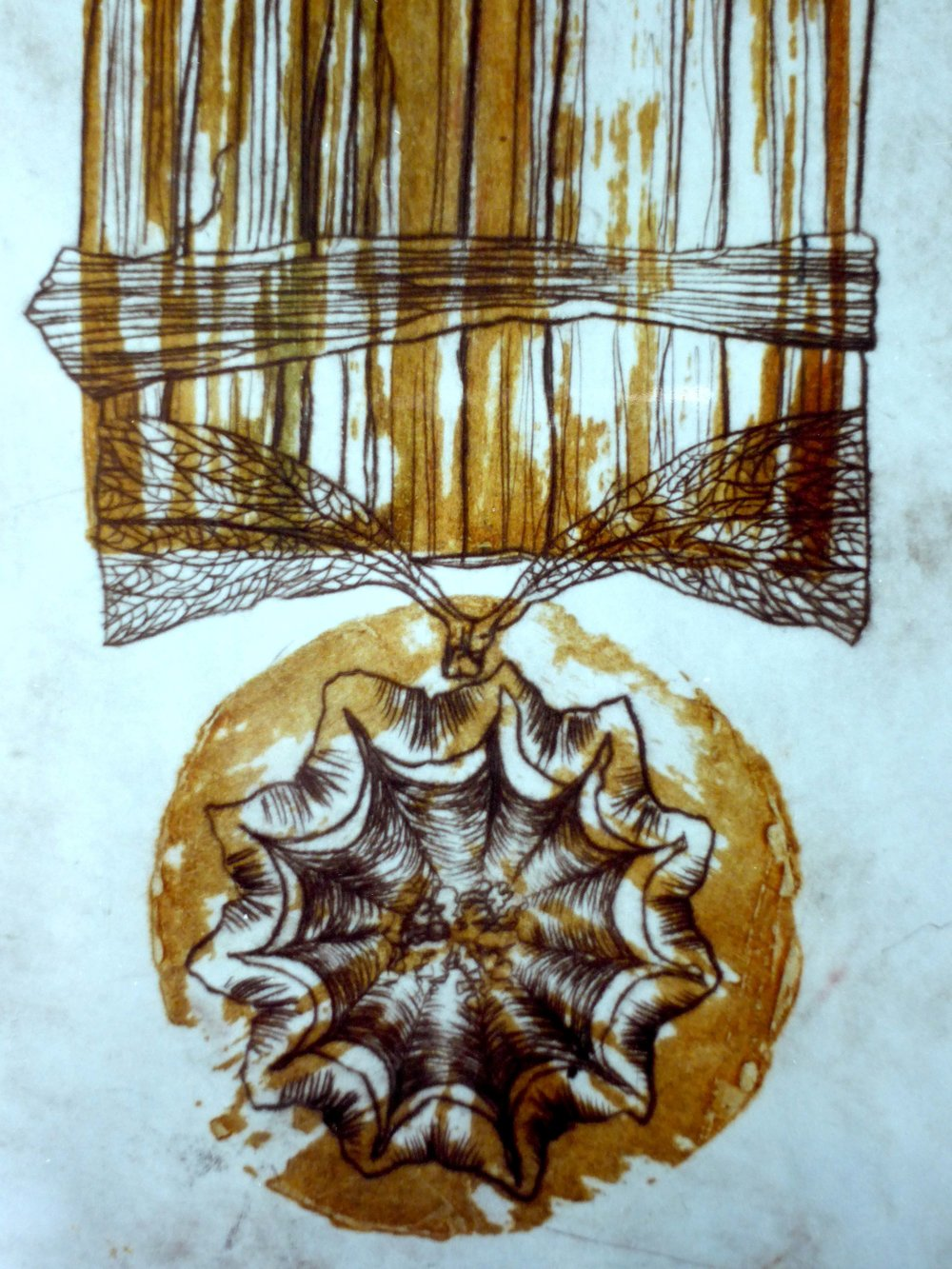 Flower Medal (intaglio and carborundum), 2003.