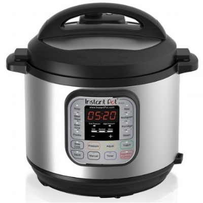 "Instant Pot - I admit that I was a little late on this one! A friend was talking about it earlier this year, so I finally tried it. It's true; it saves a ton of time.  The ""sauté"" function allows to reduce broth and sauce unlike a traditional slow cooker or pressure cooker. A must to whip dinner in a few minutes!"