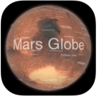 Mars Globe  (for iPhone and iPad) - this outstanding application gives a detailed view of features on the martian surfaces. An extensive database allows the user to access any information available on said features. This is fun to interact with but even more ideal for outreach purposes. FREE