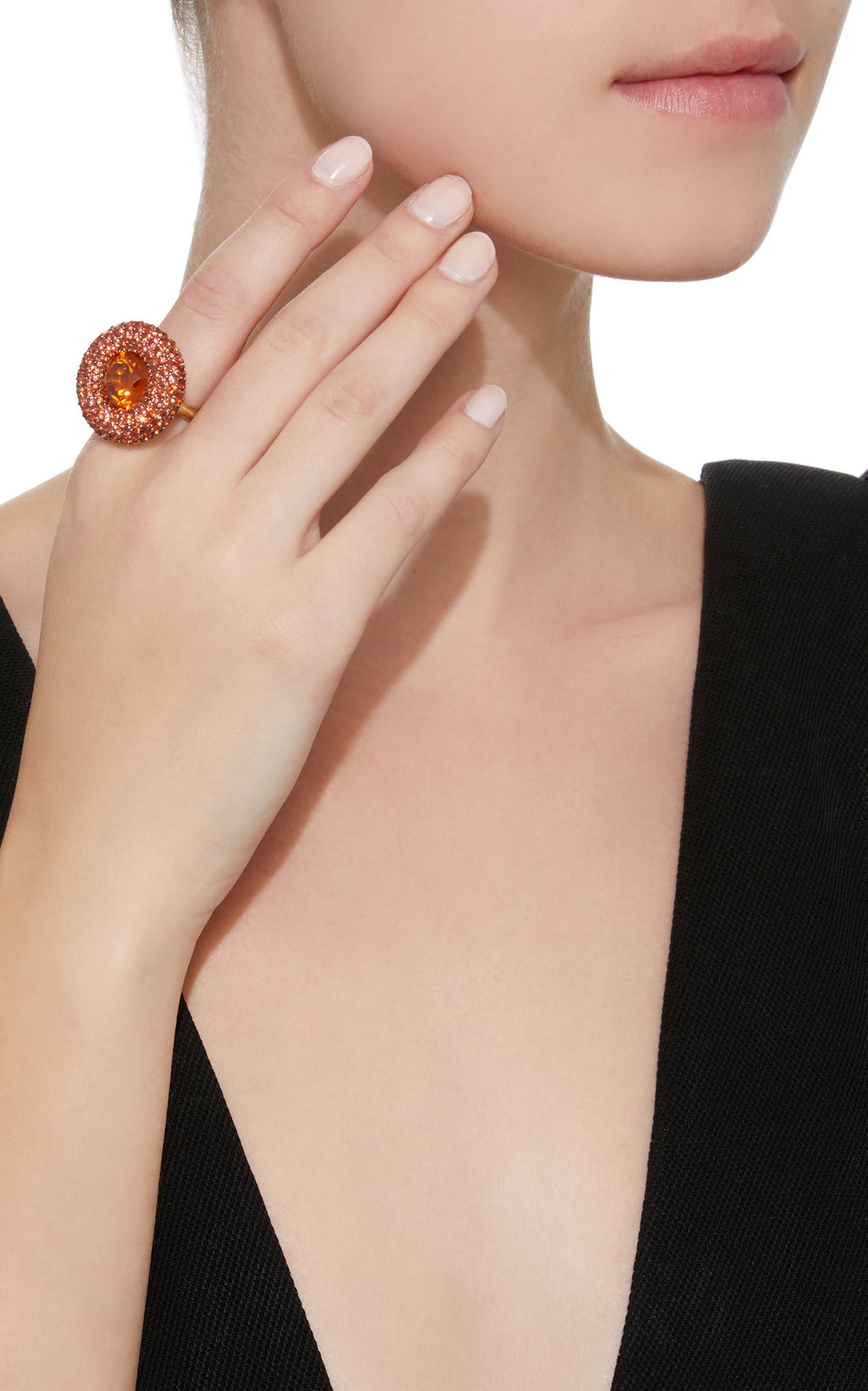 VRAM Jewelry x Moda Operandi Natural Zircon and Sapphire Ring