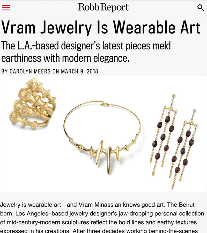 VRAM Jewelry in Robb Report Magazine