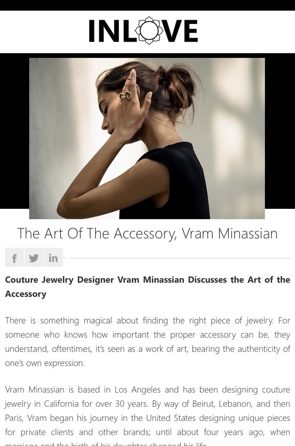 VRAM Jewelry INLOVE Magazine
