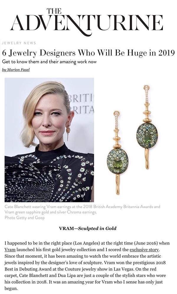 VRAM jewelry the Adventurine Jewelers huge in 2019