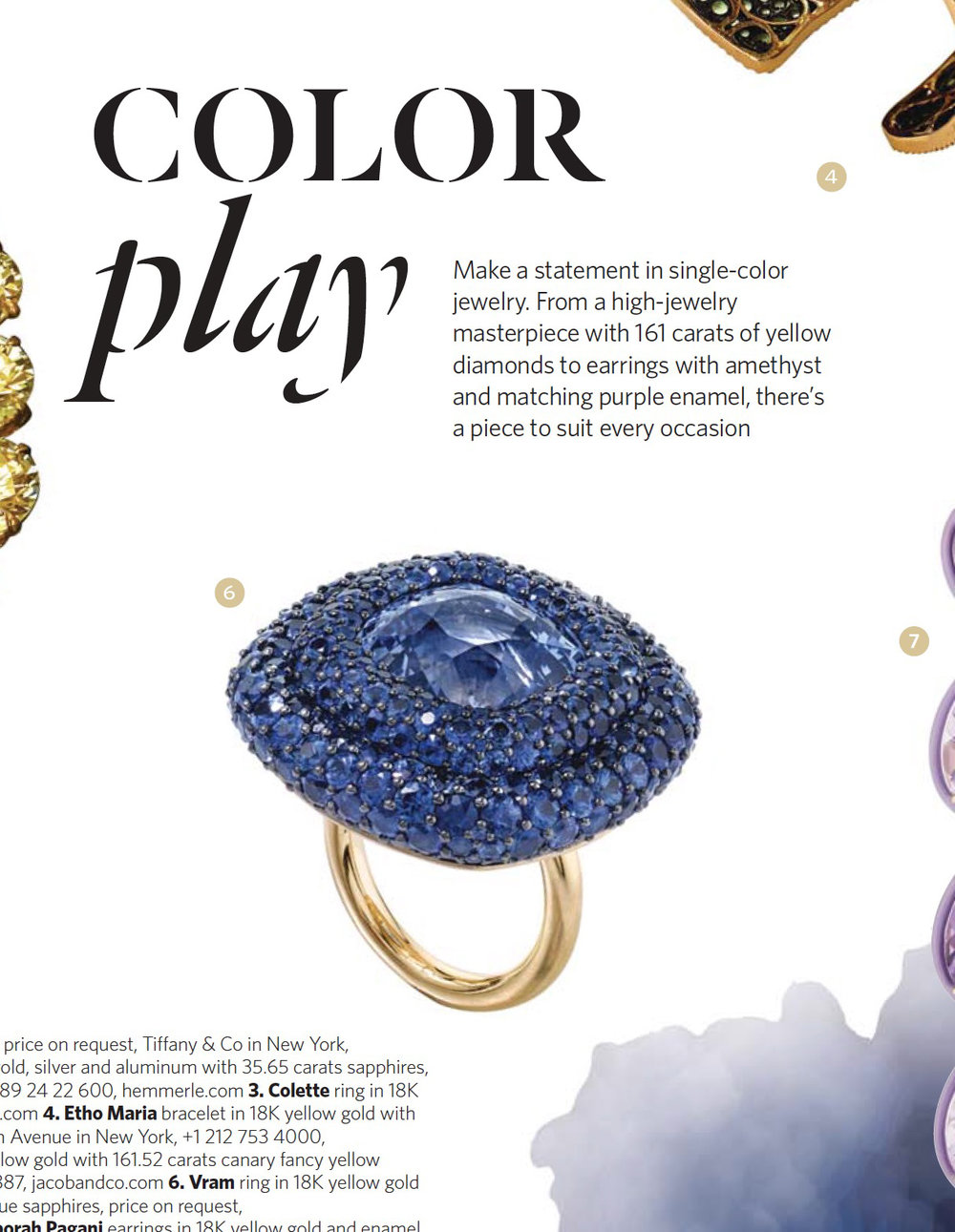 VRAM JEWELRY SAPPHIRE RING ELITE TRAVELER MAGAZINE