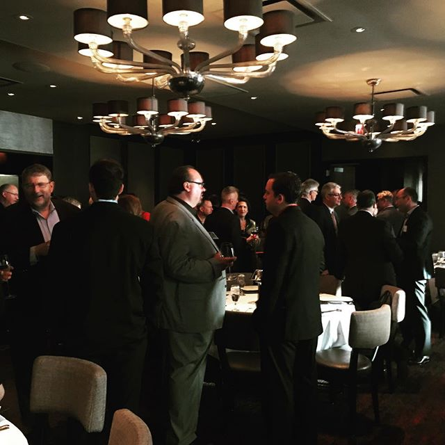 #simchicago #hmgstrategy great evening shaping up with speakers and sponsors #CIO #chicago