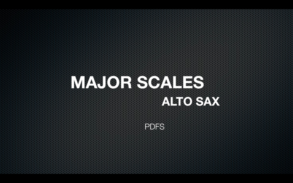 MAJOR SCALES FOR ALTO