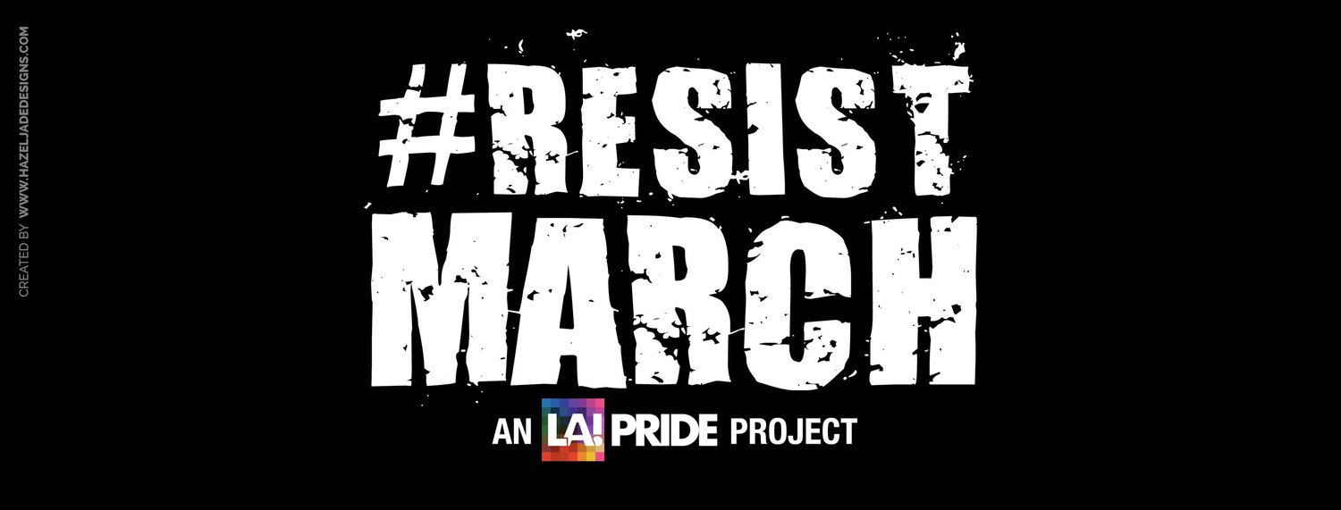 RESIST March Los Angeles  Indivisible Conejo - Los angeles poster black and white