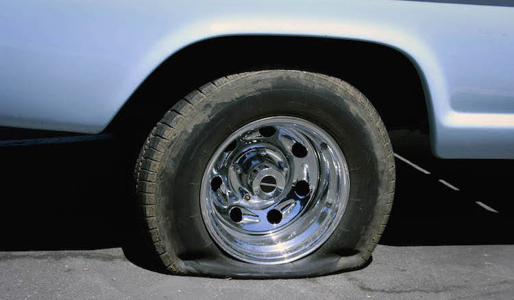 A Photo that perfectly represents the 'cycle' in Hollywood.https://www.metromile.com/blog/car-maintenance-flat-tire-repair/