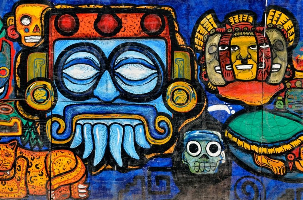 A Graffiti Painting in Mexico City shows its Creative Charm. http://www.telegraph.co.uk/content/dam/Travel/2016/October/mexico%20city%20art-xlarge.jpg