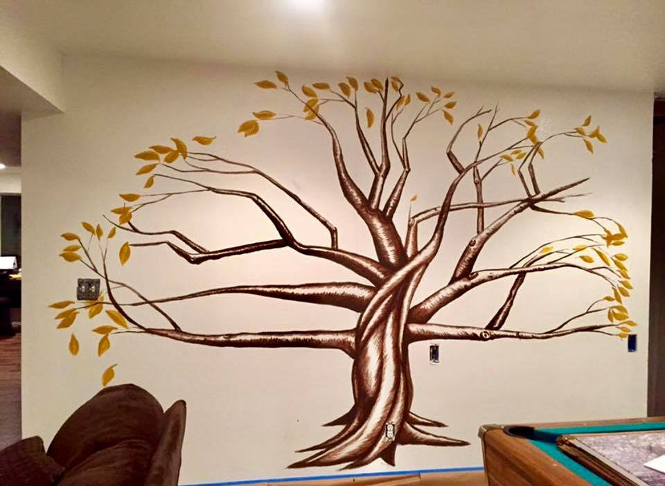 An example of a Mural made by Aaron Stevens at Straight Line Finishings.