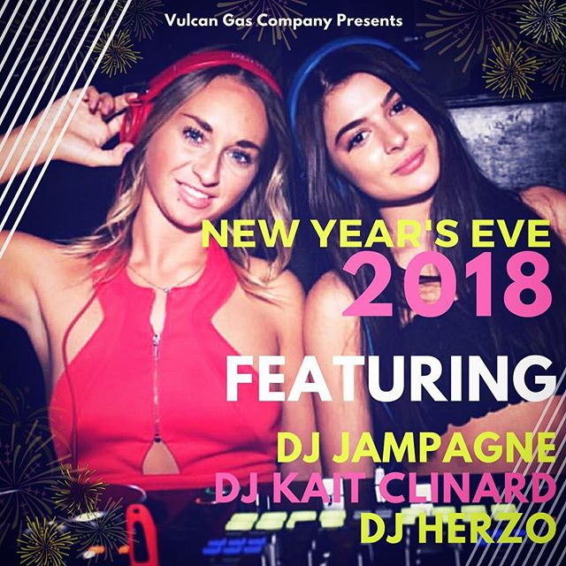 VULCAN GAS COMPANY PRESENTS: NEW YEAR'S EVE 2018 - FEAT. @djjampagne @kaitclinard @herzo_music - - - From bottle service, private VIP areas, and #livemusic - GET READY TO DANCE into the New Year! Tickets & info at vulcanatx.com  #newyearseve #nye #ATX #austin #2018 #vulcanatx #champagne #balloondrop