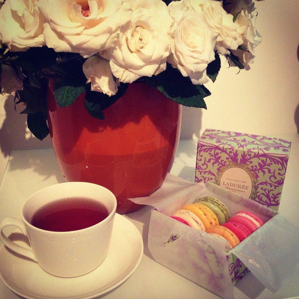Laduree - Flowers, Macarons and Tea