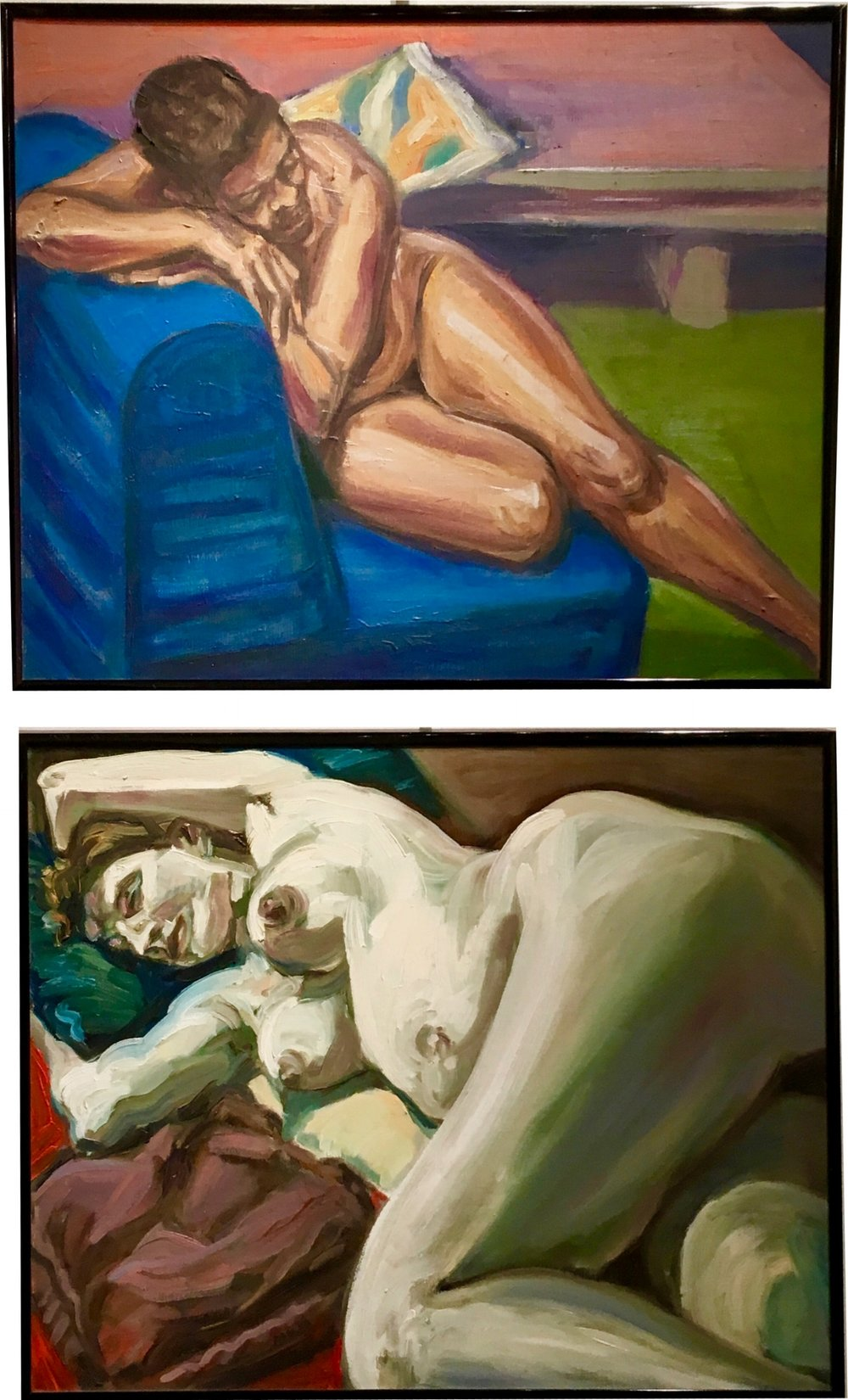 Gloria Diagonal/Blue Couch  (top)      Bette Angles  (bottom)  Mary Hutchinson