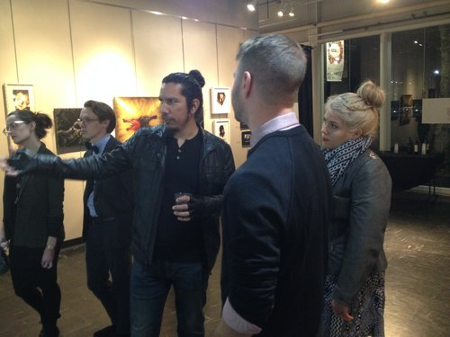 Divine Mania ( (Francísco D.) at his Hyperpredator show opening in the South Gallery..JPG