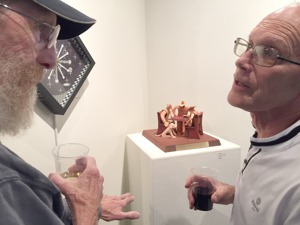 Alan Cunningham (left) discussing his work with Michael Gorman.jpg