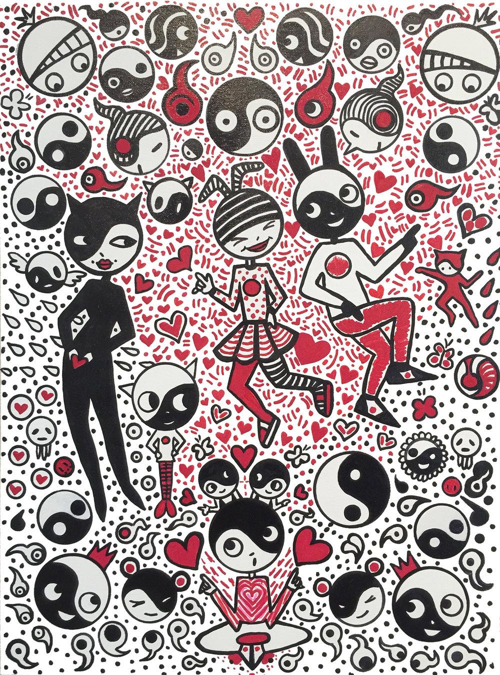 Rhythm of Love Bethann Shannon oil paint and pen 18 x 24.jpg