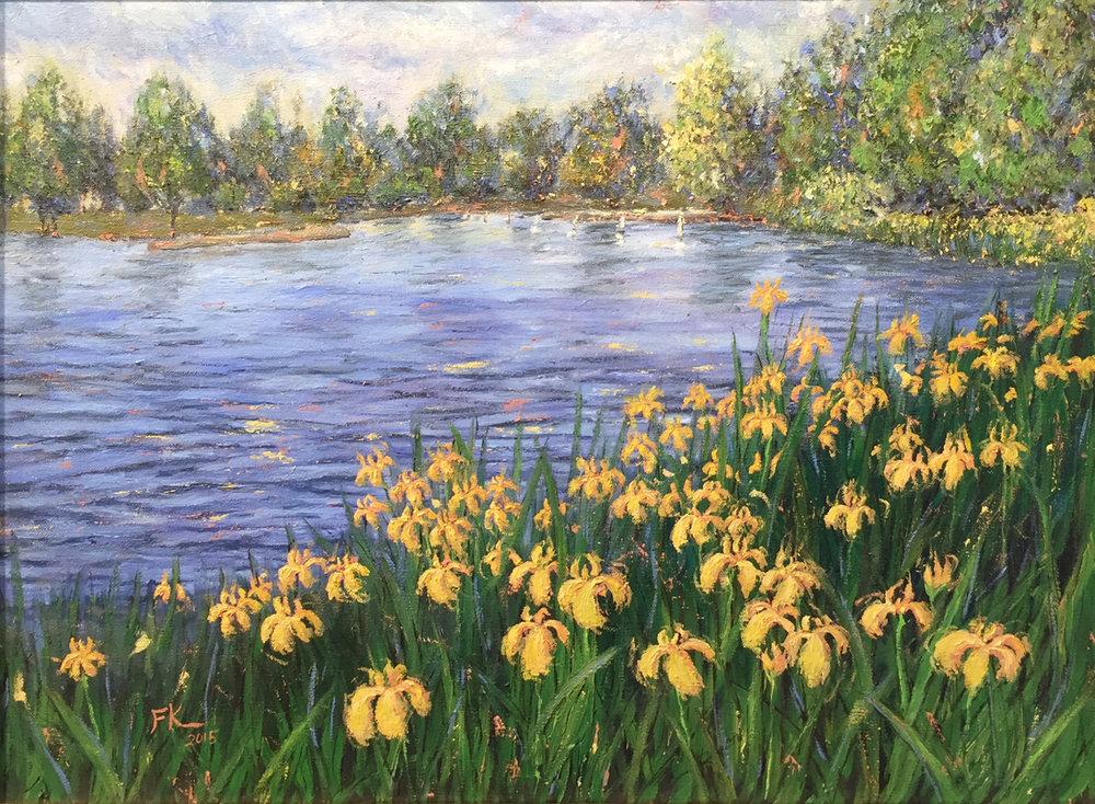 Green Lake Francesca Kee oil on canvas 24 x 18.jpg