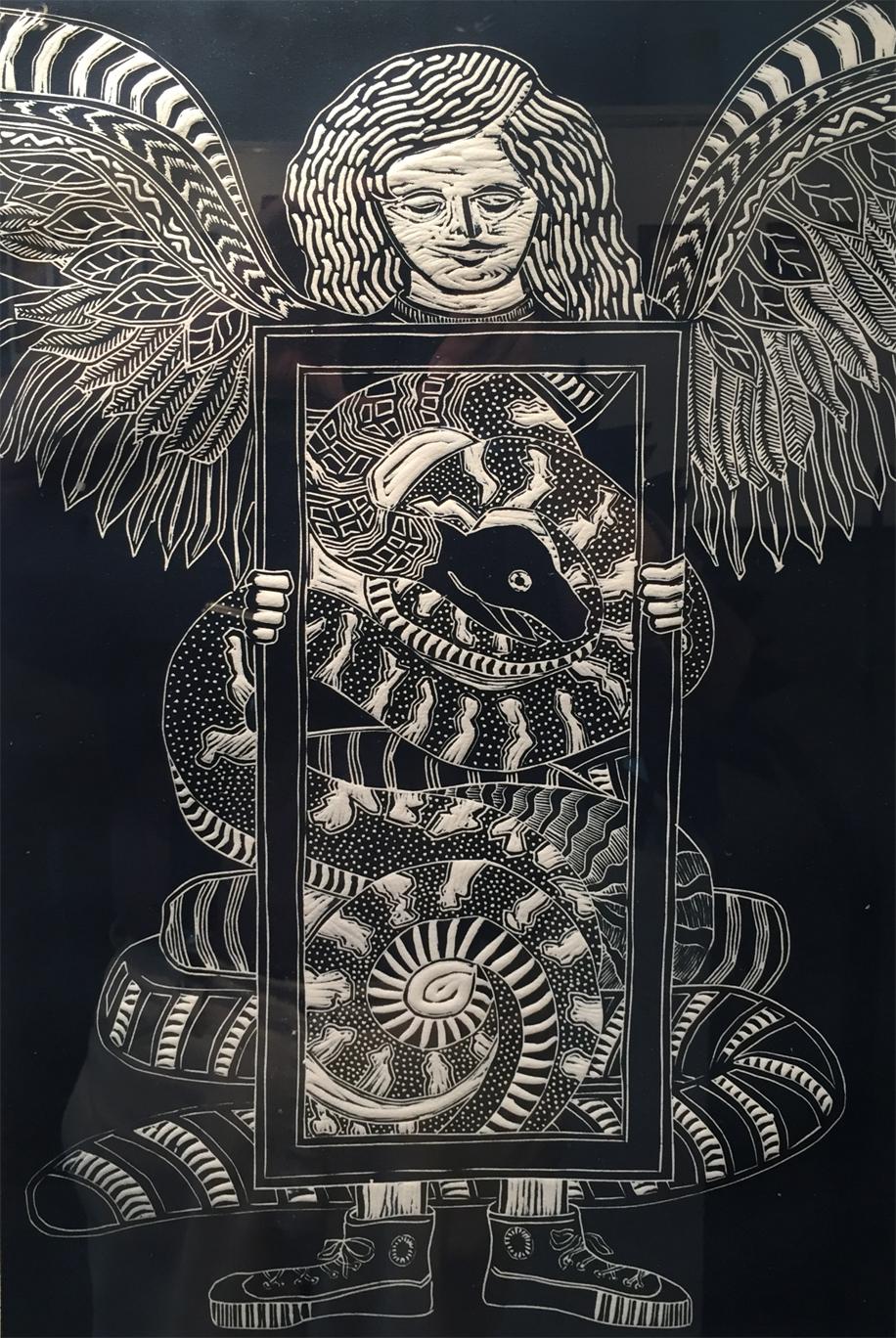 El Angel y La Serpiente. Laurie D. Brown.jpg