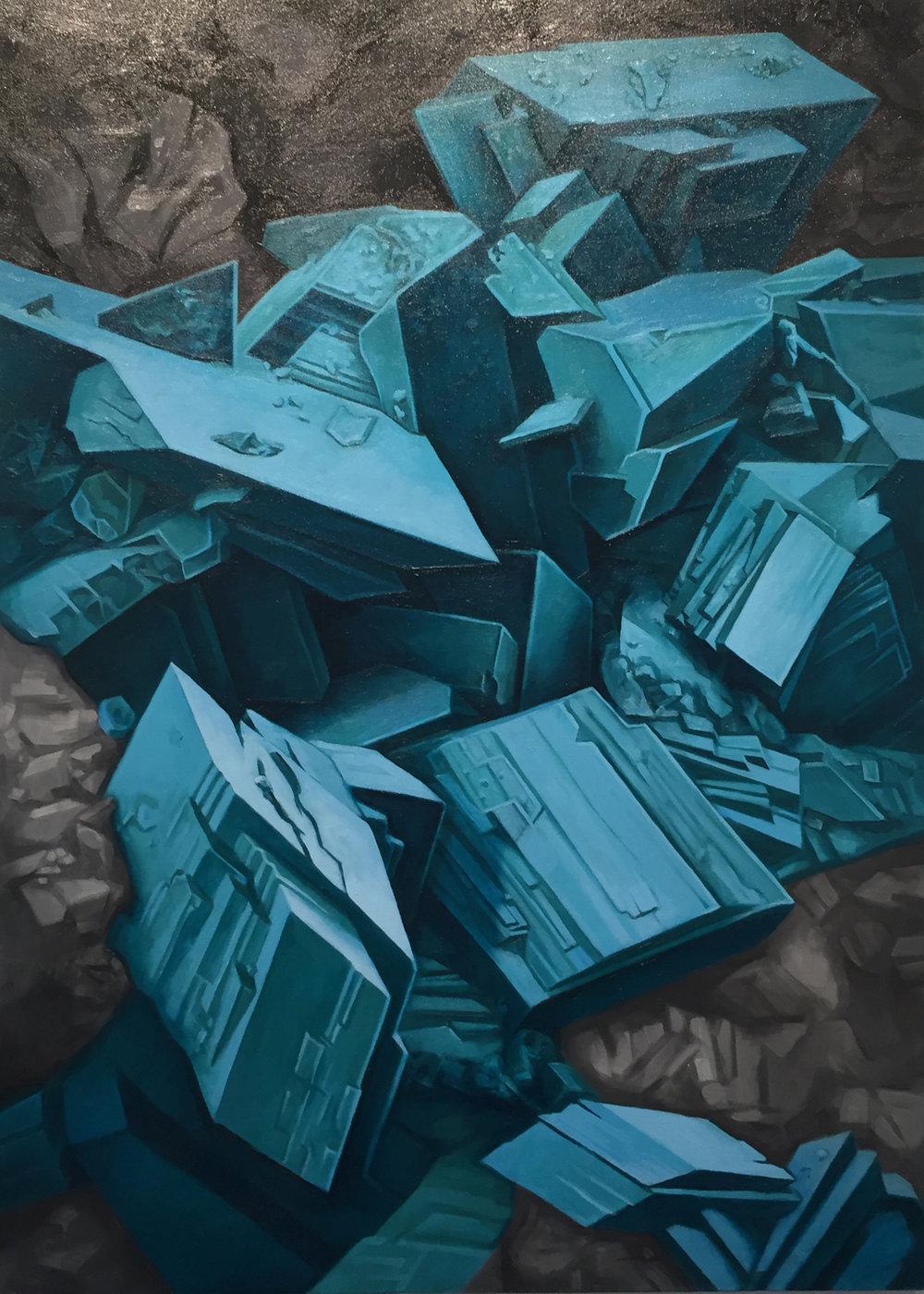 Turquoise Micro-Crystals   Saul Krotki