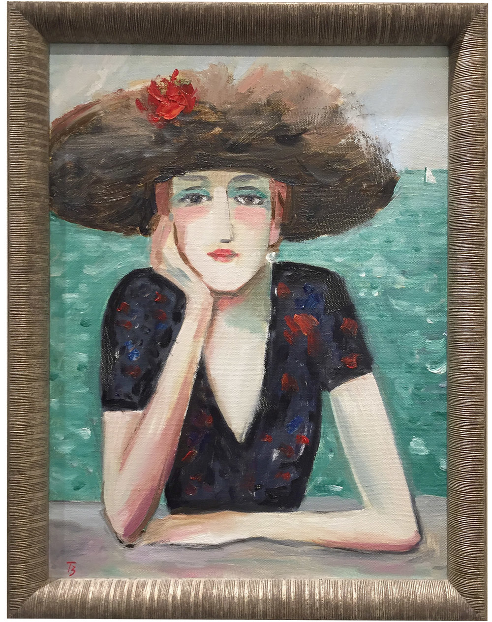 Portrait of the Woman in Hat   Tatyana Brown